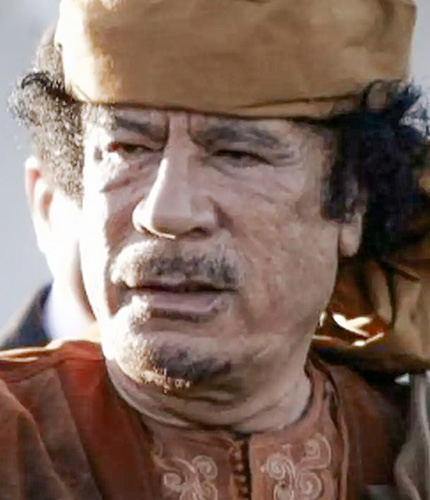 18. Portrait de Mouammar Kadhafi