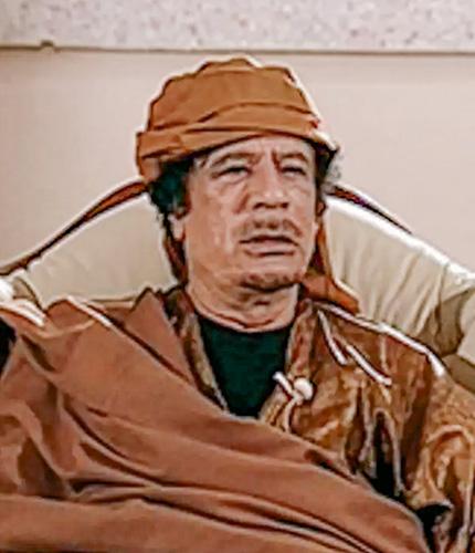 16. Portrait de Mouammar Kadhafi